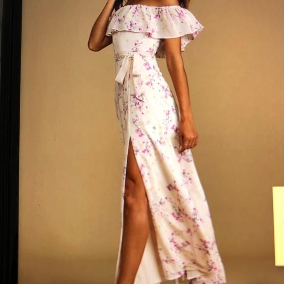 NWOT lulu's Lined Maxi Dress Sz L